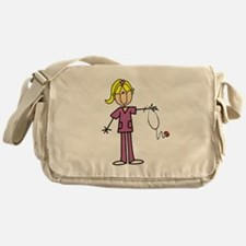Blond Female Nurse Messenger Bag