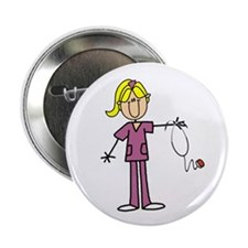 "Blond Female Nurse 2.25"" Button (10 pack)"