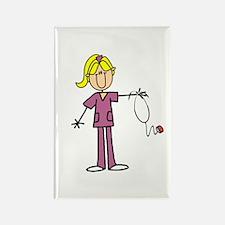 Blond Female Nurse Rectangle Magnet (10 pack)