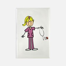 Blond Female Nurse Rectangle Magnet (100 pack)