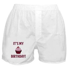 It's My Birthday! Pink Boxer Shorts