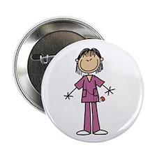 "Asian Female Nurse 2.25"" Button (10 pack)"