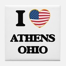 I love Athens Ohio Tile Coaster