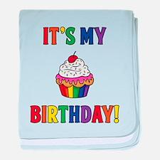 It's My Birthday! Rainbow baby blanket
