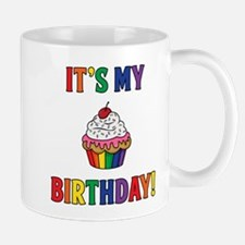 It's My Birthday! Rainbow Mugs
