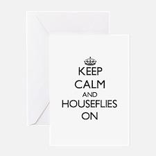 Keep Calm and Houseflies ON Greeting Cards