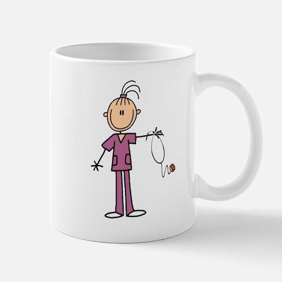 Black Hair Female Nurse Mug