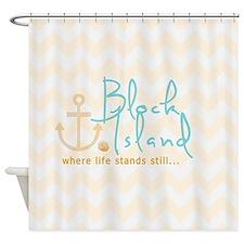 Block Island Life Shower Curtain