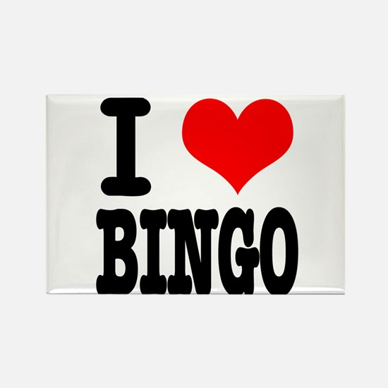 I Heart (Love) Bingo Rectangle Magnet