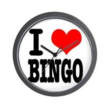 I Heart (Love) Bingo Wall Clock