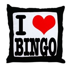 I Heart (Love) Bingo Throw Pillow