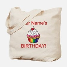 CUSTOM Your Names Birthday Cupcake Tote Bag