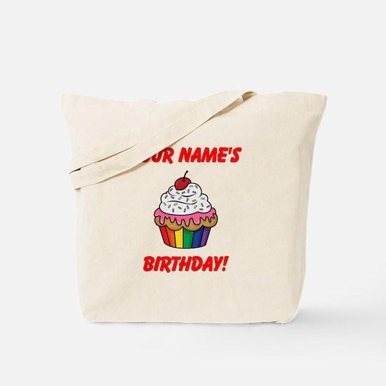 CUSTOM Your Names Birthday Cupcake Tote Bag