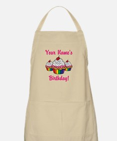 CUSTOM Your Names Birthday Cupcakes Apron