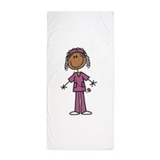 African American Female Nurse Beach Towel