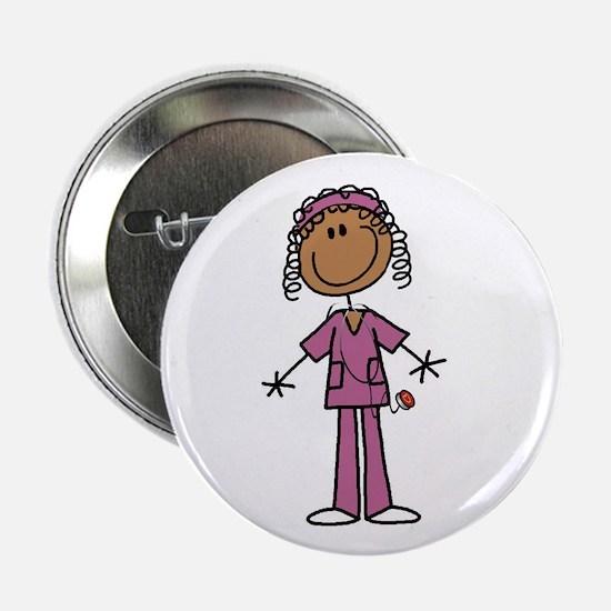 "African American Female Nurse 2.25"" Button"