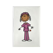 African American Femal Rectangle Magnet (100 pack)