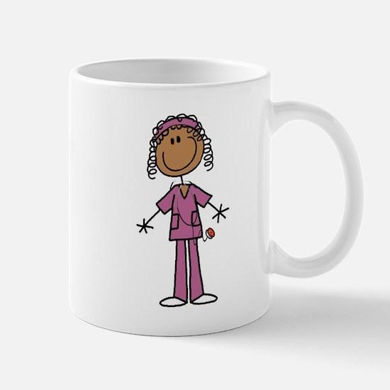 African American Female Nurse Mug
