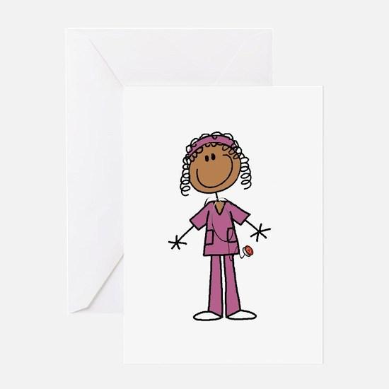 African American Female Nurse Greeting Card