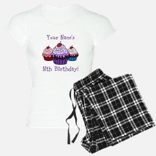 CUSTOM Your Names Nth Birthday! Cupcakes Pajamas