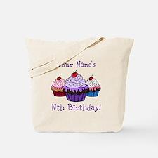 CUSTOM Your Names Nth Birthday! Cupcakes Tote Bag