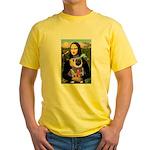 Mona & Sir Pug Yellow T-Shirt