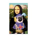 Mona & Sir Pug Sticker (Rectangle)