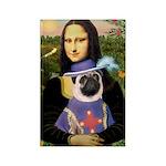 Mona & Sir Pug Rectangle Magnet