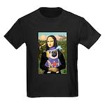 Mona & Sir Pug Kids Dark T-Shirt