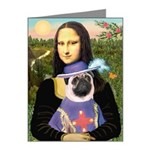 Mona & Sir Pug Note Cards (Pk of 20)