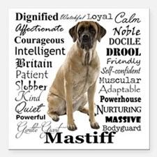 "Mastiff Traits Square Car Magnet 3"" x 3"""