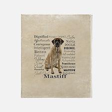 Mastiff Traits Throw Blanket