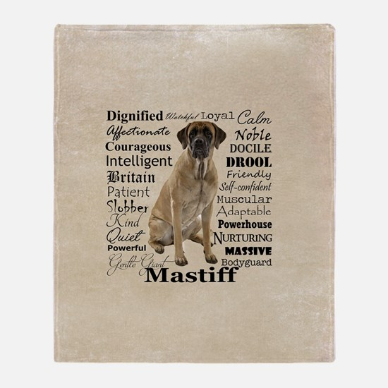 Mastiff Traits Throw Blanket