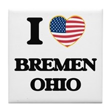 I love Bremen Ohio Tile Coaster