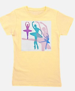 Pretty Dancing Ballerinas Girl's Tee