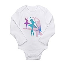 Pretty Dancing Balleri Long Sleeve Infant Bodysuit