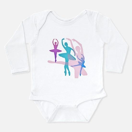 Pretty Dancing Balleri Long Sleeve Infant Bodysuit