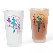 Pretty Dancing Ballerinas Drinking Glass