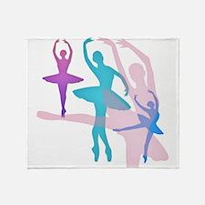 Pretty Dancing Ballerinas Throw Blanket