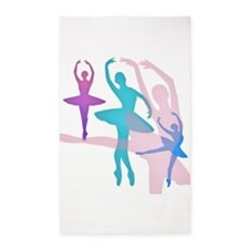 Pretty Dancing Ballerinas Area Rug