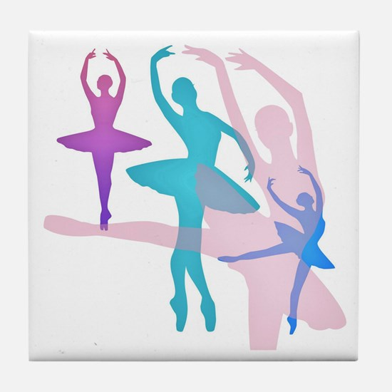 Pretty Dancing Ballerinas Tile Coaster