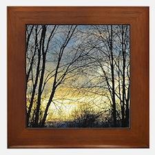 Evening Sky Framed Tile
