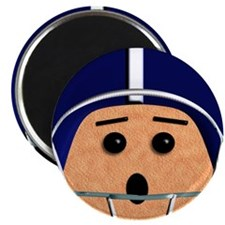 Blue and White Football Dude Magnets