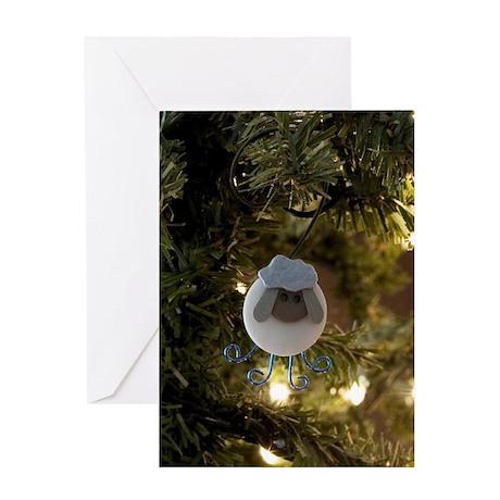 Button Sheep Ornament Card