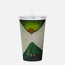 Green Angel Raphael Acrylic Double-wall Tumbler