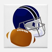 Football Helmet and ball Tile Coaster