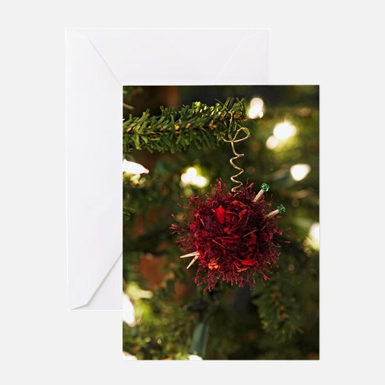 Yarn & Needles Ornament Card