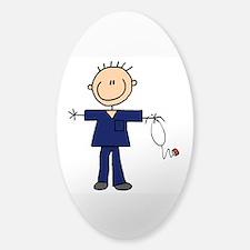 Male Nurse Sticker (Oval)