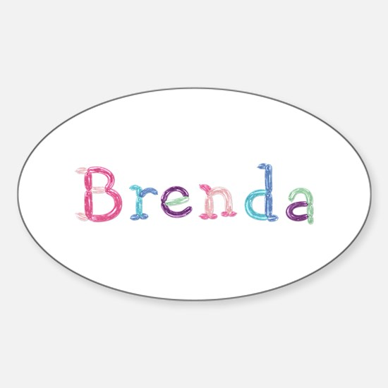 Brenda Princess Balloons Oval Decal