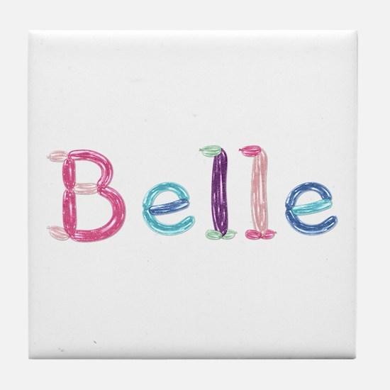 Belle Princess Balloons Tile Coaster